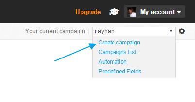 Getresponse create a campaign