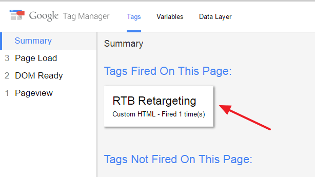 Tags Fired on the Page