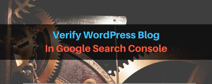Verify WordPress Blog In Google Search Console