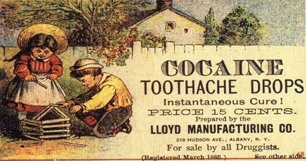 Road NOT : ADS WE WON'T SEE AGAIN – COCAINE TOOTHACHE DROPS