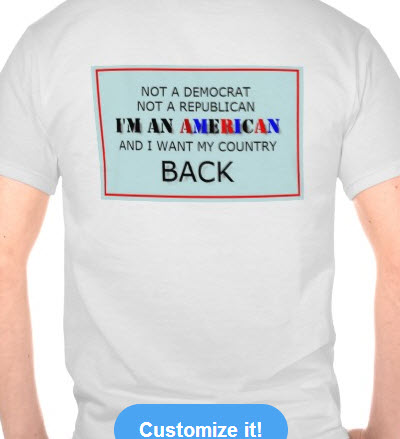Im An American and I want my country back