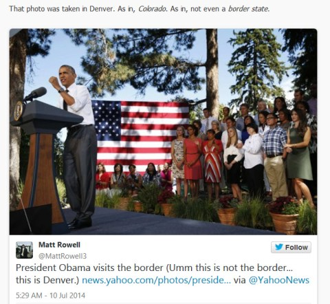 Reuters, Yahoo News Show Fake Pictures of Obama at Border