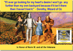 Art of Stillness – Wizard Of Oz, Dorothy Famous 'Backyard' Quote