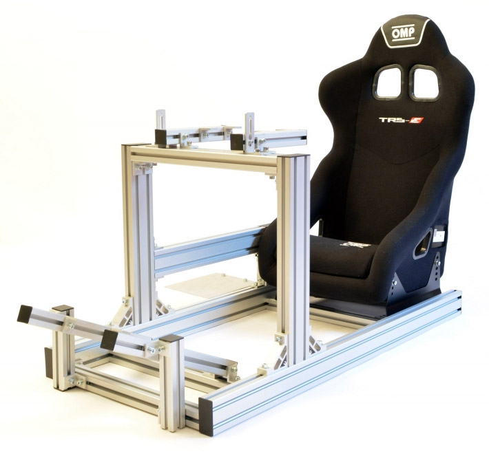 hydraulic racing simulator chair teen room chairs four kits to get into vr sim on any budget jcl simracing entry level rig with omp seat