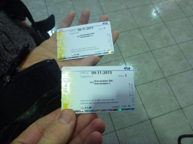 Nos fameux billets pour le train
