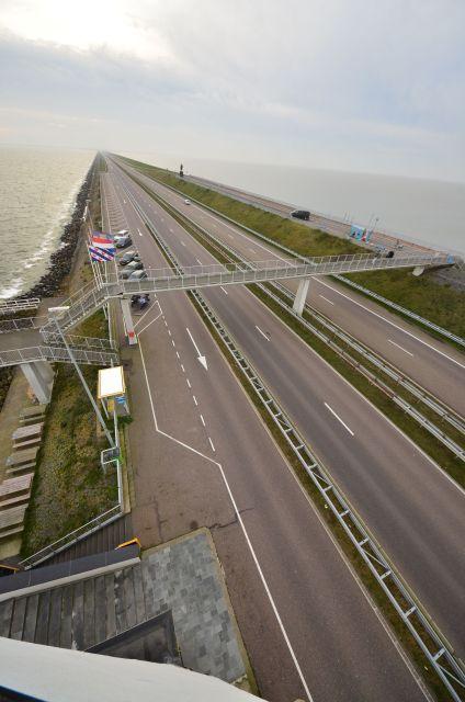Route sur la digue - Afsluitdijk
