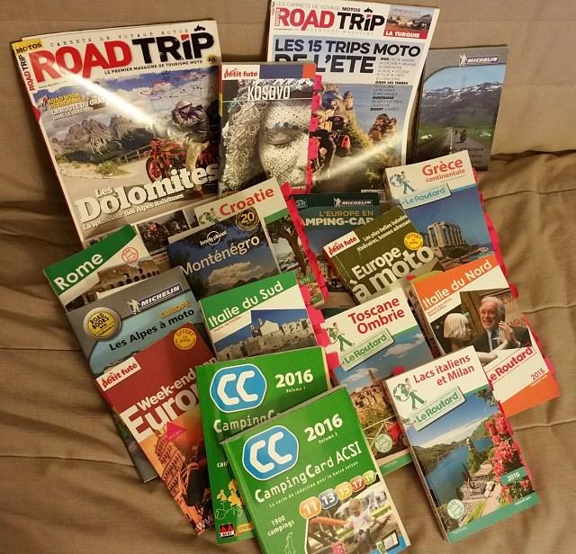 Les guides pour notre trip