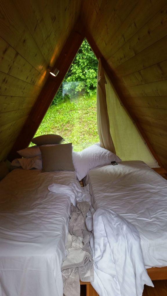 L'intérieur de notre woohouse - Camping Bled