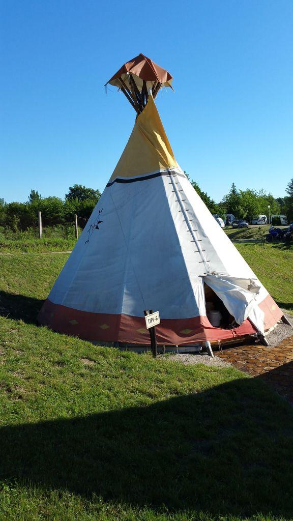 Notre tipi au camping Turist Grabovac