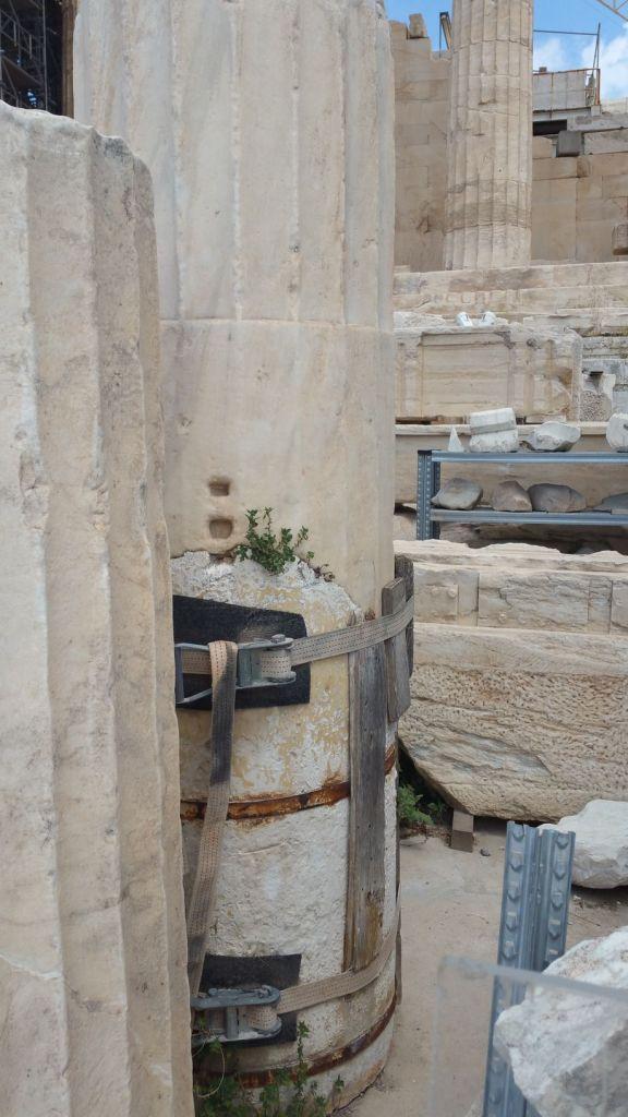 L'Acropole - Colonne du Parthénon