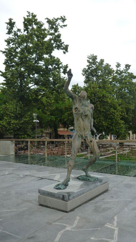 Sculpture sur le Mesarski Most - Ljubljana