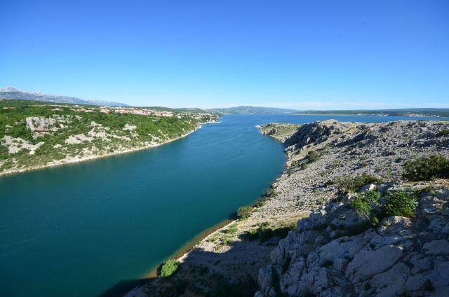 Vue depuis le pont de Maslenica - Novigradsko more