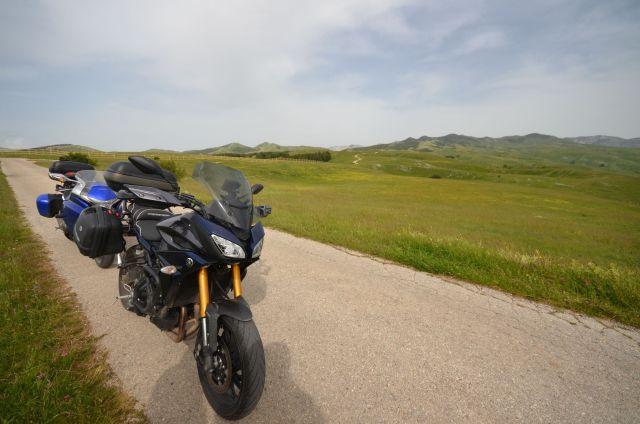 Les motos dans le parc du Durmitor - Monténégro