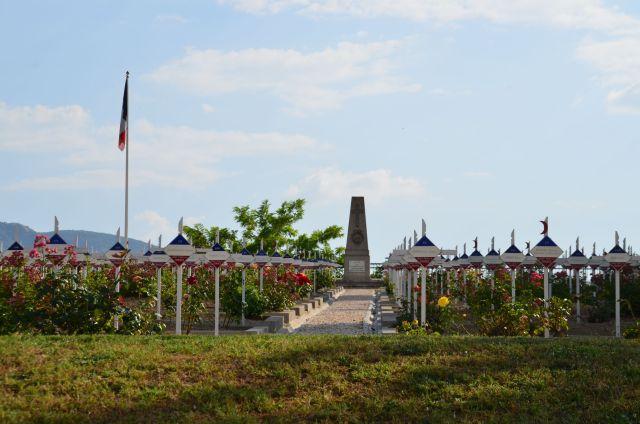 Cimetière militaire français à l'entrée de Skopje (Macédoine)