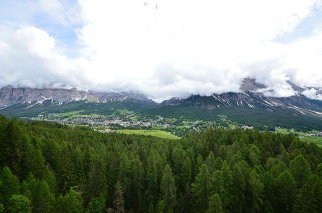 Paysage entre le col de Falzarego et Cortina d'Ampezzo