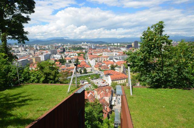 Vue sur Ljubljana depuis le château