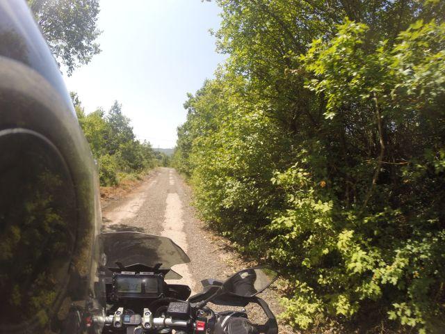 Route secondaire en Macédoine