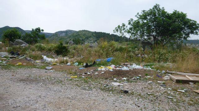 Décharge sauvage en Bosnie