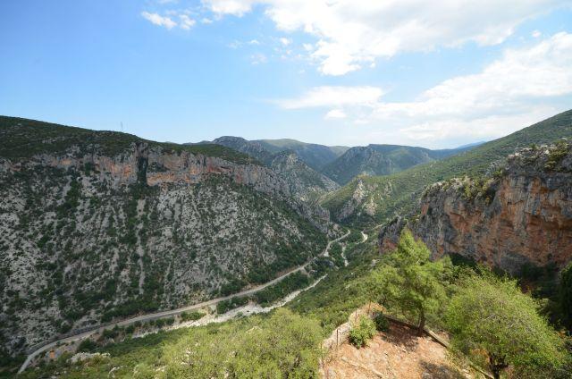 Vue depuis le monastère d'Elonis - Grèce
