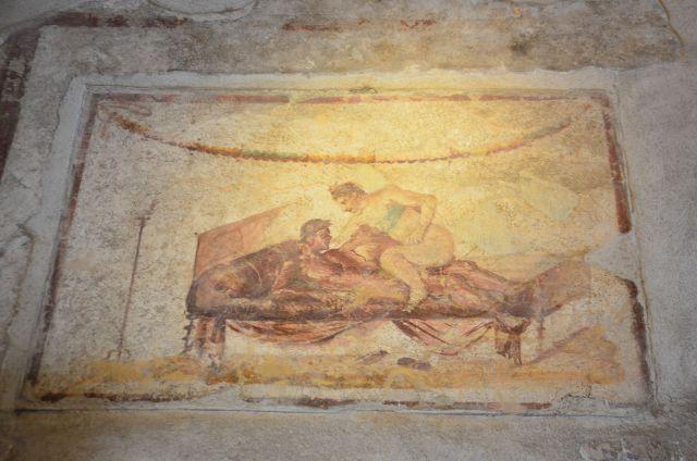 Peinture dans une maison de prostitution - Pompéi