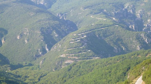 Vue vers Aristi - Grèce