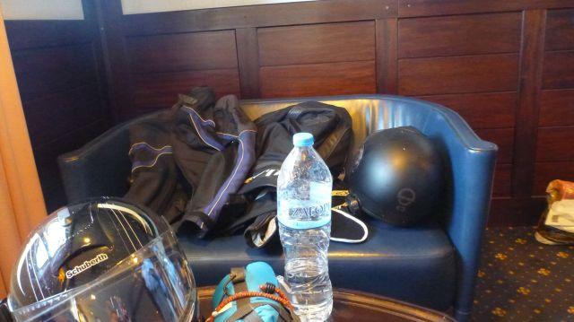 """Nos """"lits"""" dans le ferry...grand luxe (ou pas) !"""