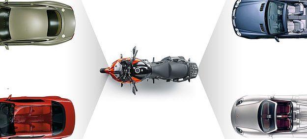 Vision qui englobe la moto