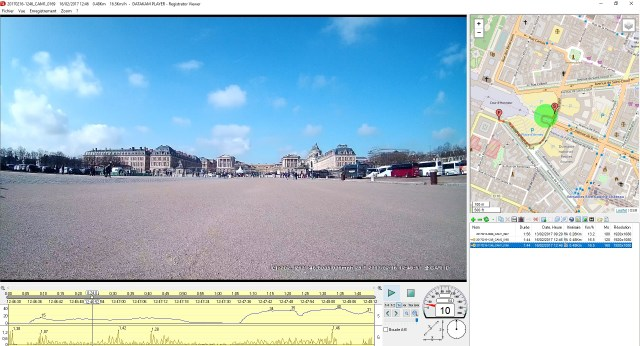 Aperçu du logiciel de la dashcam