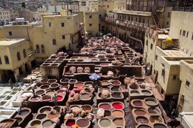 Fez (Fes) Leather Tannery, Morocco