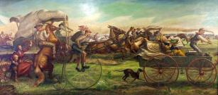 land rush mural