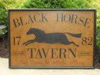 Black Horse Tavern Sign