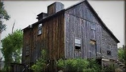 wooden grist mill