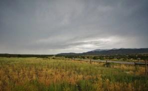 high mountain plains and rain clouds