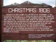 Christmas 1806 information sign