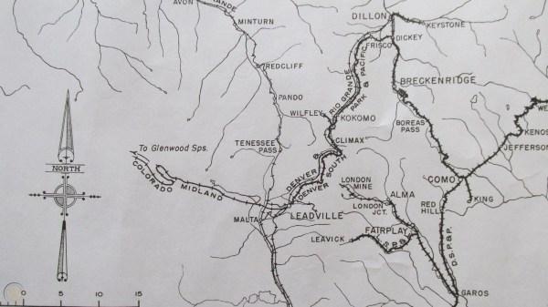 railroad map Fairplay CO