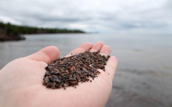 beach sand at Lake Superior