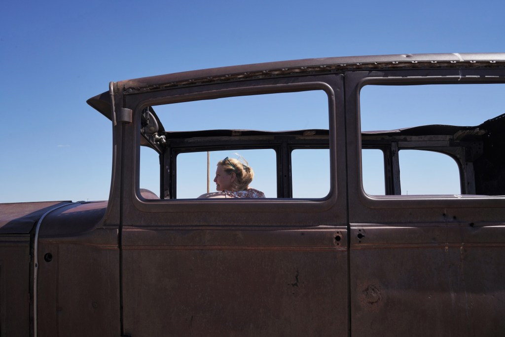 Driving an old Studebaker