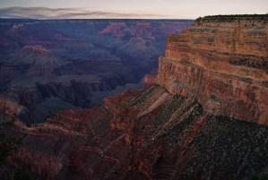 South Rim Grand Canyon at sunset