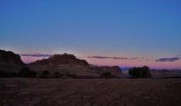 desert sandstone at sunset