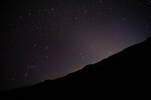 stars in dark purple skies