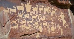 Sandstone rock art