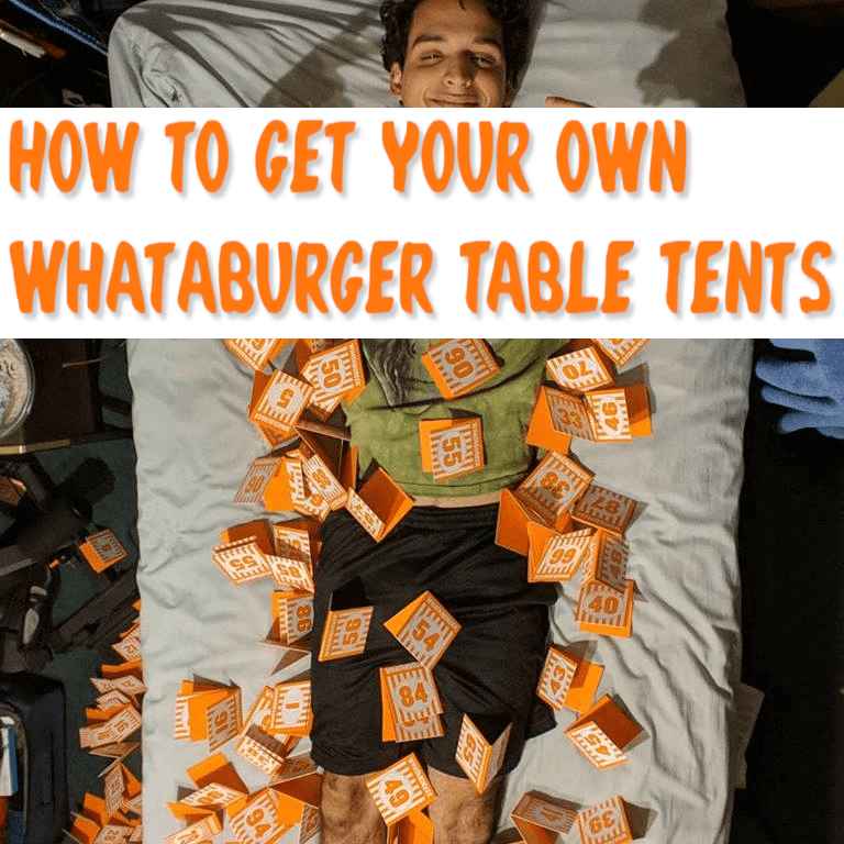 Whataburger Class Of 2019 Table Tent