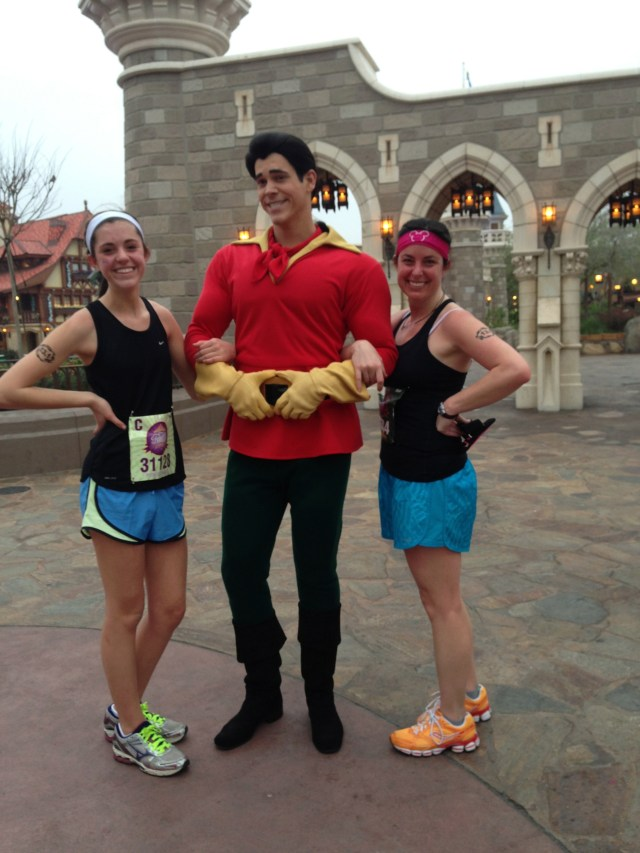 Gaston at Disney Princess Half Marathon