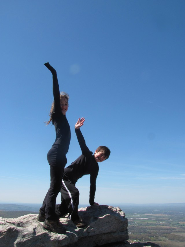 Backpacking with kids Feeling on top of the world on Annapolis Rock- Appalachian Trail