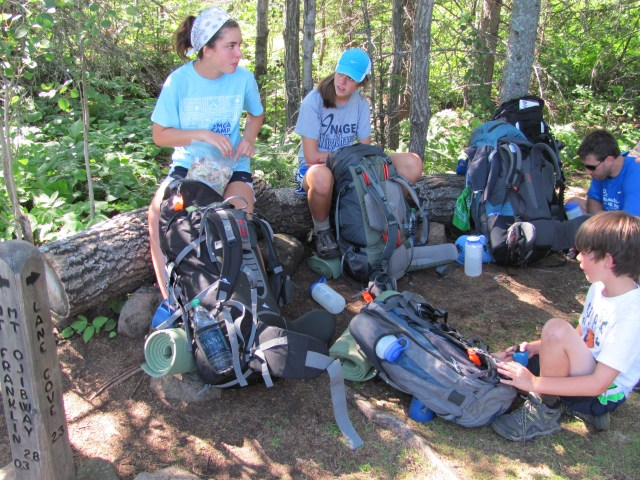 Taking a break on the Mount Franklin Trail in Isle Royale National Pak