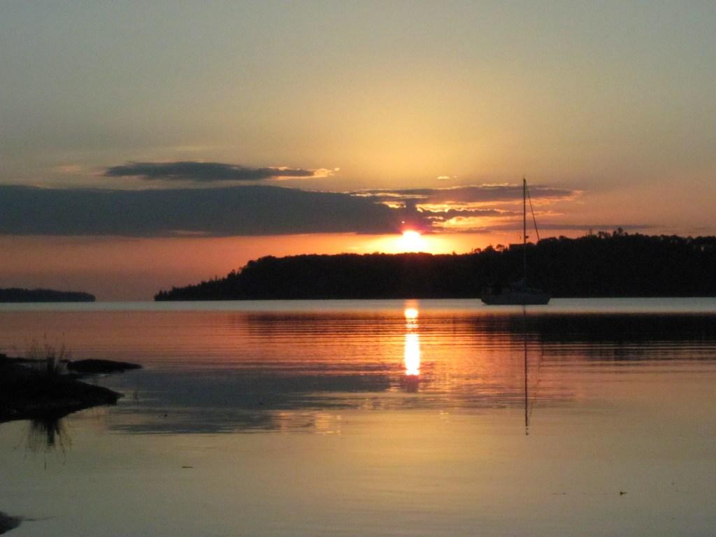 Sunrise at Moskey Basin in Isle Royale National Park