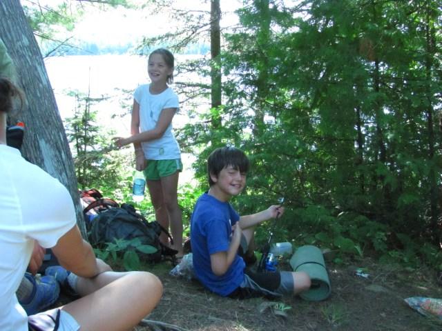 Taking a Break on the Lake Richie Trail
