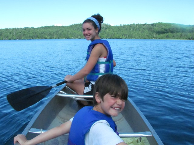 Canoeing the Bay at Windigo in Isle Royale