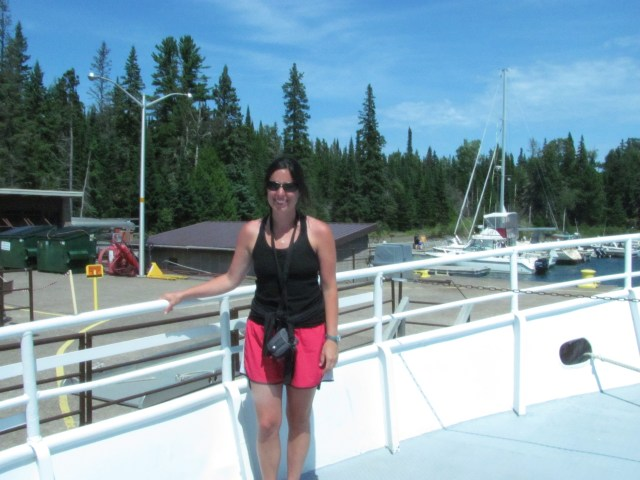 On the Isle Royale Queen Returning Home