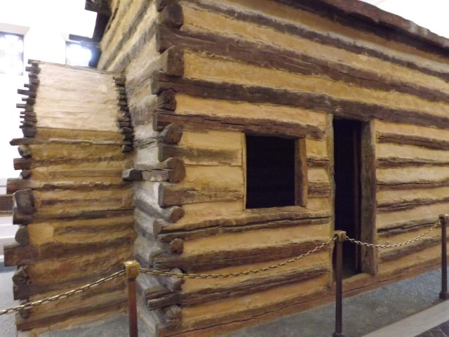 Symbolic Birthplace Cabin Inside the Memorial Building at Abraham Lincoln Birthplace National Historical Site